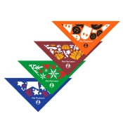 Fall and Winter Holiday Bandanas - Set of 4: Click to Enlarge