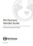 Pet Partners Handler Guide: Click to Enlarge