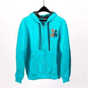 Aqua Color Hoodie: Click to Enlarge
