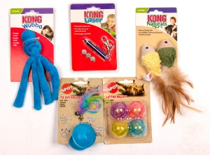 Purrfect Cat Toys (Set of five): Click to Enlarge