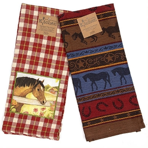 Two-Pack of Tea Towels for Horse Lovers: Click to Enlarge