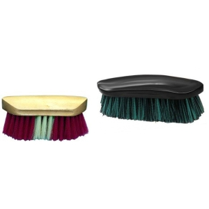 Equine Hard and Soft Bristle Brush Set: Click to Enlarge