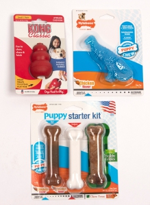 Puppy Chew Toys (Set of three): Click to Enlarge