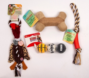 Medium Dog Toys (Set of four): Click to Enlarge