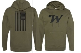 Military Flag Hoodie: Click to Enlarge