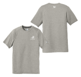 Grey Performance Crew T Shirt with Screen printed Logo: Click to Enlarge