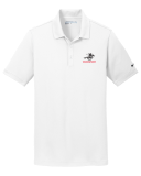 Nike White Dri-FIT Solid Icon Pique Modern Fit Polo with Embroidered Logo: Click to Enlarge