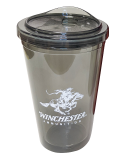 Plastic Tumbler with Lid: Click to Enlarge