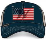 American Flag Cap with DeBossed Winchester W in Flag: Click to Enlarge