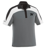 Shirt - Polo Elevate - Blk/Gray/White: Click to Enlarge