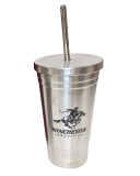 Stainless Steel Tumbler with Straw: Click to Enlarge