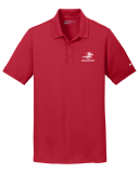 Nike Red Dri-FIT Solid Icon Pique Modern Fit Polo with Embroidered Logo: Click to Enlarge