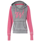 Hoodie Soft Pink/Gray: Click to Enlarge