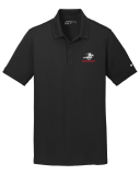 Nike Black Dri-FIT Solid Icon Pique Modern Fit Polo with Embroidered Logo: Click to Enlarge