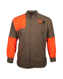 Classic Upland Hunting Shirt Non-Cotton Clever Tan/Orange: Click to Enlarge