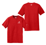 Red Performance Crew T Shirt with Screen printed Logo: Click to Enlarge