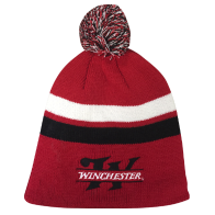 Beanie - Red Pom: Click to Enlarge