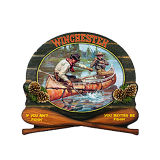 W1056 Printed 3D Sign - Fishermen w/Paddles: Click to Enlarge