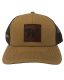 Tan Mesh Back Cap with Leather Patch: Click to Enlarge