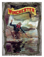 W1072 3D Twig Sign - Fishermen w/Net: Click to Enlarge