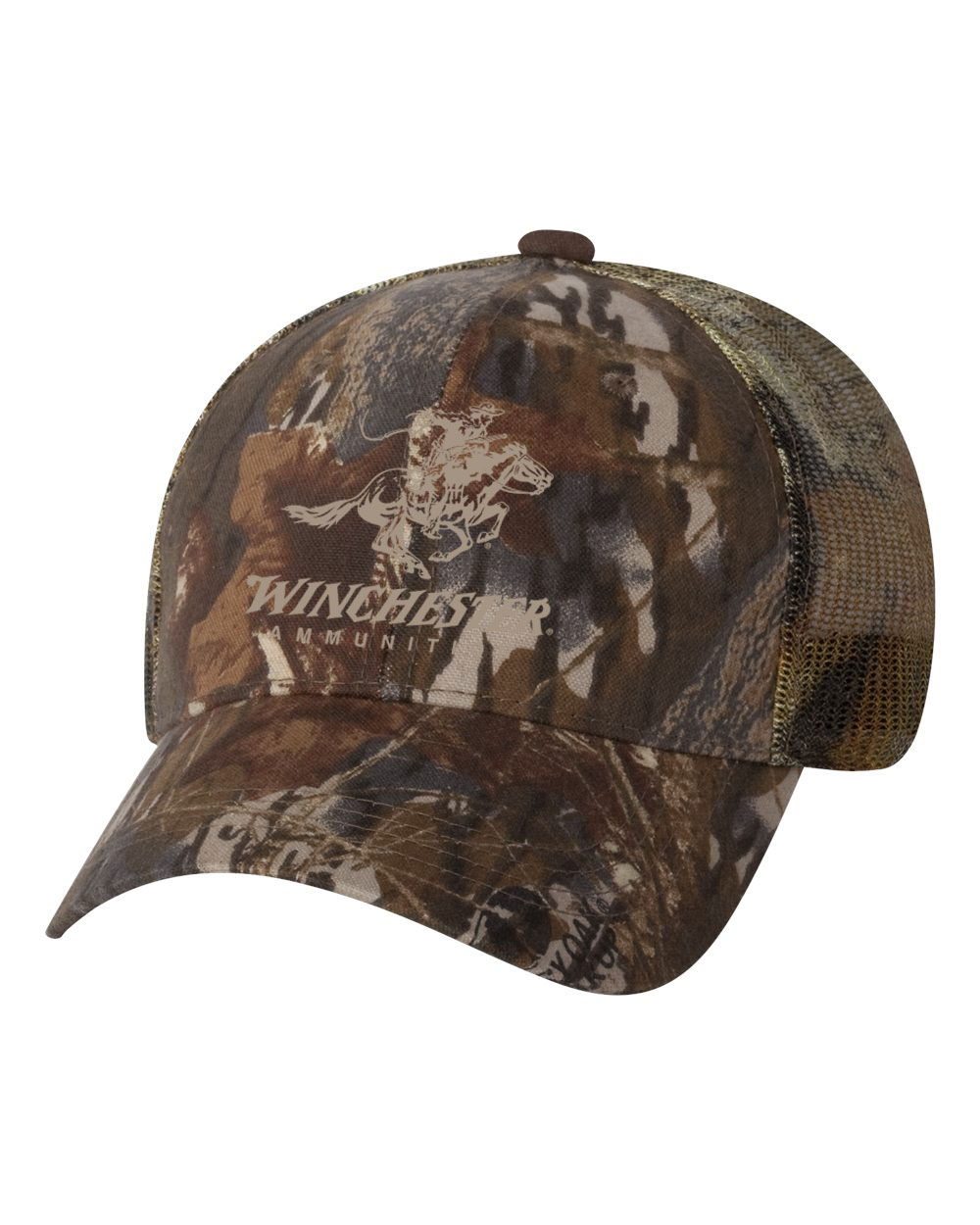 dc6370bf6f Camo Mesh Back Cap with Embroidered Logo