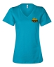 Bella + Canvas - Womens Relaxed Short Sleeve Jersey V-Neck Tee - Turquoise: Click to Enlarge