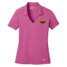 Nike Golf Ladies Dri-FIT Vertical Mesh Polo - Pink Fire: Click to Enlarge