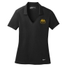Nike Golf Ladies Dri-FIT Vertical Mesh Polo - Black: Click to Enlarge