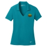 Nike Golf Ladies Dri-FIT Vertical Mesh Polo - Blustery: Click to Enlarge