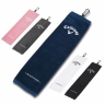 Callaway Tri-Fold Towel-pink - white: Click to Enlarge