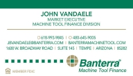 MACHINE TOOL FINANCE DIVISION BUSINESS CARDS: Click to Enlarge