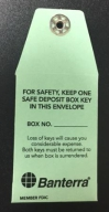 Green Safe Deposit Envelope: Click to Enlarge